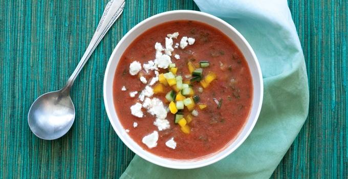 Summer Gazpacho Recipe from Melissa Gellert